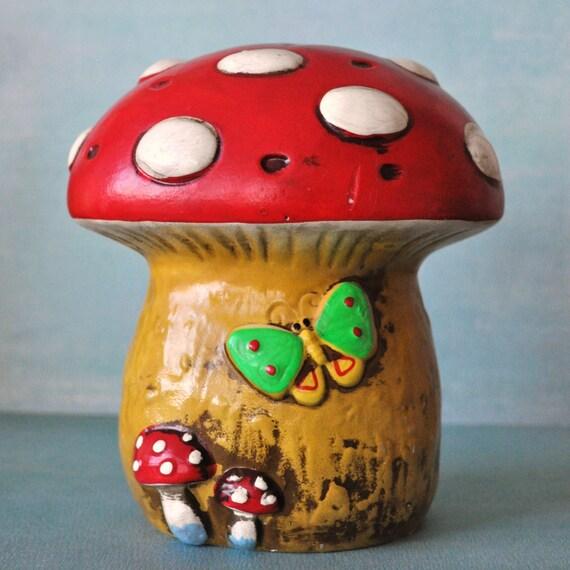 Vintage Oversized Mushroom Salt Shaker