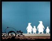 Penguin Silhouettes - Vinyl Decal