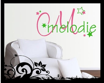 Personalized Name with Stars- Vinyl Decal