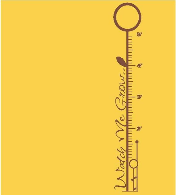 MATTE BROWN - 6' Flower Growth Chart - Vinyl Decal