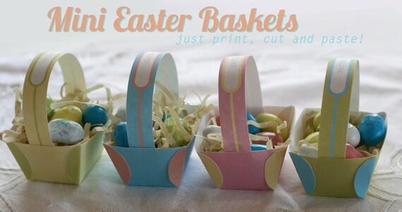 Printable Mini Easter Baskets