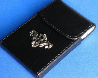1/2 OFF Sale Card Holder/ Case with Hinged Lifting Mechanism entry Optional Custom Brass Mermaid