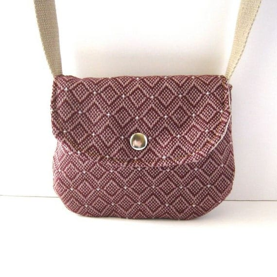 Date Purse // Pink-Purple Geometric Woven Canvas // Ready to Ship