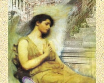 ZNE Bookmark- Angel in Waiting - Digital Collage Art by ruby