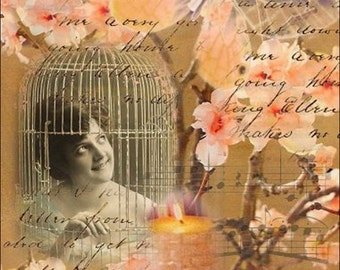 ACEO - My Song - Digital Collage Art by ruby