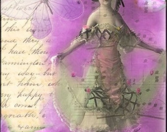 ACEO - A Love Song - Digital Collage Art by ruby