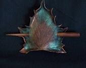 Brown Maple Leaf Hair Cup