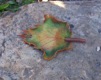 Autumn Sycamore Leaf Hair Cup