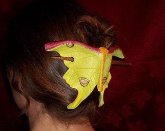 Luna Moth Leather  Hair Cup