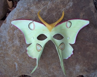 Luna Moth Leather Mask