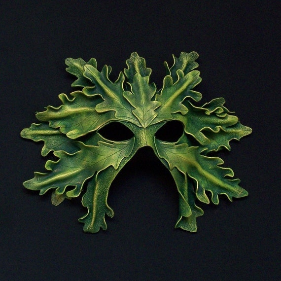 White Oak Leaf Greenman Mask