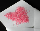 5 x Heart Letterpress Cards (Limited Edition)