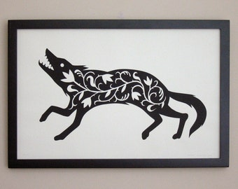 The Fancy Wolf Print (black)