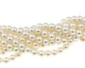 100 CREAM 4mm Swarovski Pearls - 5810 4mm Crystal Pearl Beads - Off-White Neutral Cream Pearls