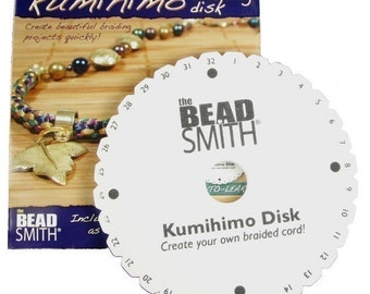 Round Kumihimo Loom Kumihimo Disk for Japanese Braiding with Instructions