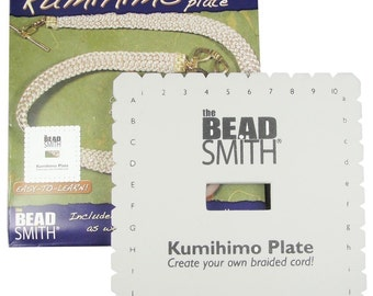 Kumihimo Square Disk Loom for Japanese Braiding.   Includes Printed English Instructions. 5.5 Inches