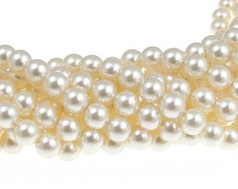 500 CREAM 6mm Swarovski Crystal Pearl Beads 5810 6mm Swarovski Pearls Bridal Wedding Jewelry Beads FACTORY PACK