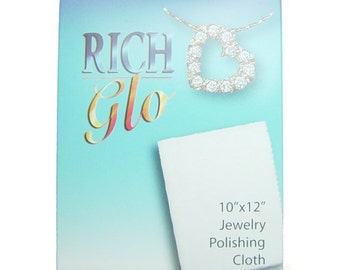 RichGlo Jewelry Cleaning and Polishing Cloth Silver Cleaner Sterling Cleanser Jewelry Cleaner Cleaning Cloth