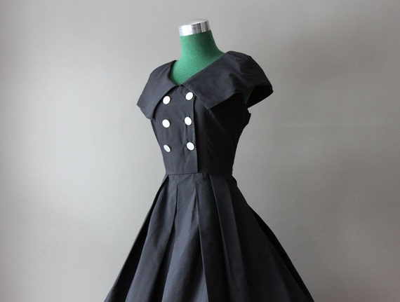 1950s Double Breasted Day Dress