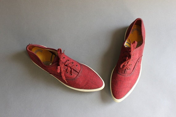 1950s Keds US / Vintage 50s 60s Pointy Toe Keds Sneakers