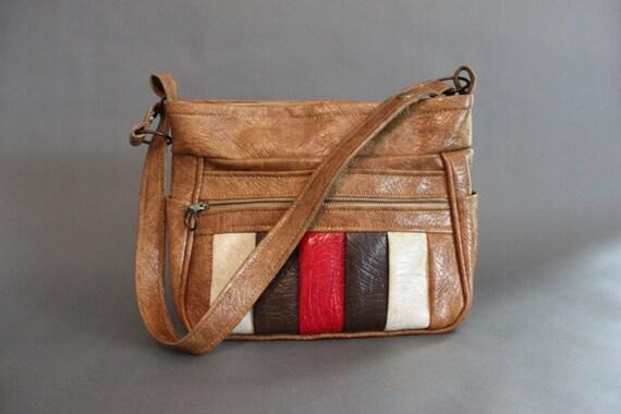 Vintage Bag / 70s Shoulder Bag / Vintage Big Vinyl Shoulder Bag