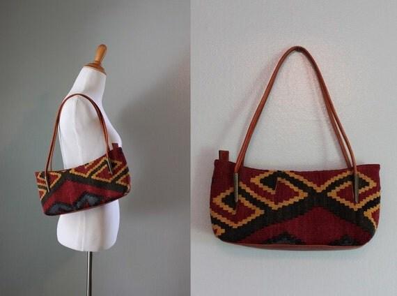 Kilim Bag / Vintage Kilim Shoulder Bag / Vintage Bag