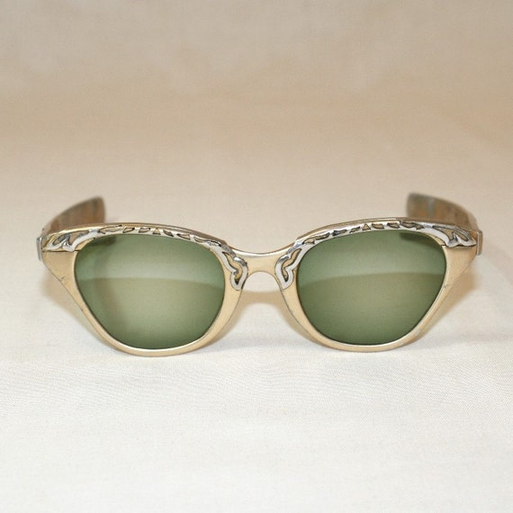 1940's Gold and Silver Tone Sunglasses