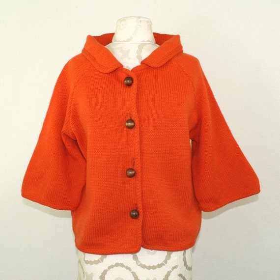 60's Perfect PUMPKIN Cardigan