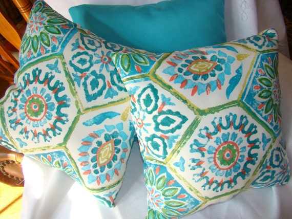 Outdoor pillows with Kaufmann fabric Set of 2 - 18""