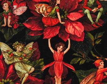 Flower Fairy Holiday MIchael Miller Fabric 1 yard