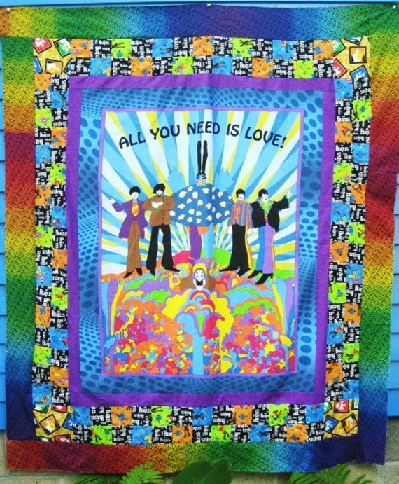 Quilt Kit Beatles All You Need Is Love