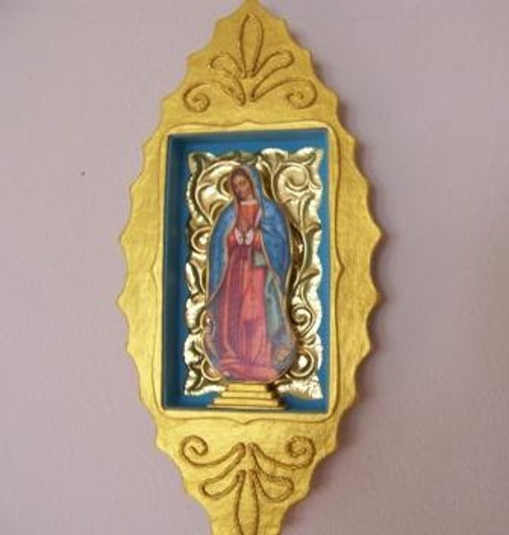 Our Lady of Guadalupe Paper Mache Nicho