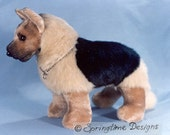 German Shepherd SEWING PATTERN 12 inch high Puppy Dog Stuffed Toy Animal Plushie Bear Friend