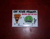 Angry Carrot and Diabolical Pea Magnet