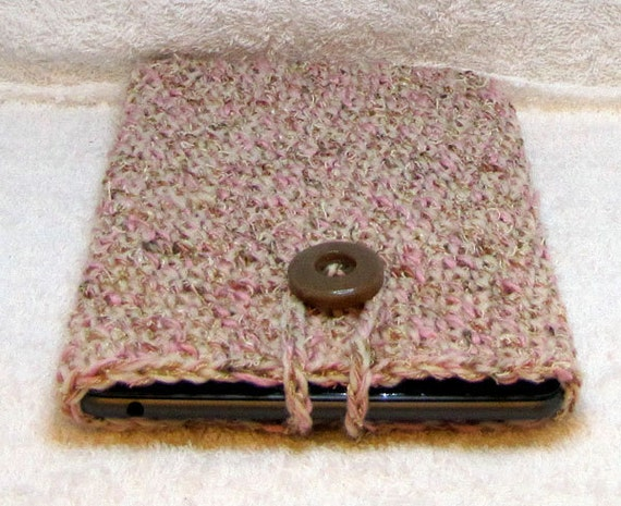 Pink and Tan eReader CoZy - iPad mini/Kindle Fire/Nook Classic