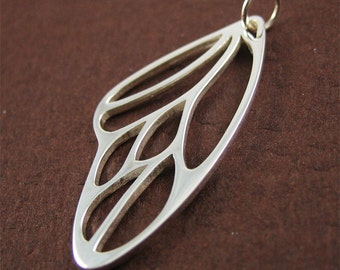 Sterling Silver Butterfly Wing Pendant - large