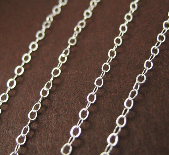 SALE - 3 ft - Sterling Silver Flat Cable Chain No.1