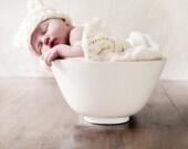 Newborn Baby Bear Hat, Knit Bear Hat, Vegan Baby Hat, Knitted Baby Beanie,Newborn Photo Prop, Knit Bear Hat for Baby Boy, Baby Girl Bear Hat