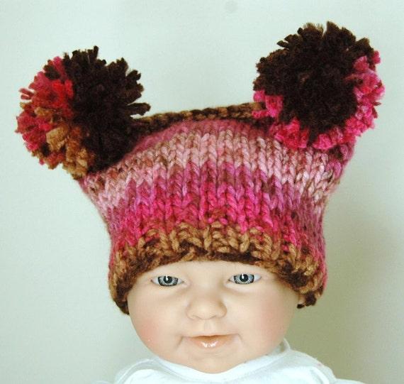KNITTING PATTERN Baby Jester Hat With Pom Poms - PDF from PhylPhil on Etsy St...