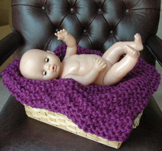 Baby Brights Mini Blanket Baby Photography Prop In Dark Purple