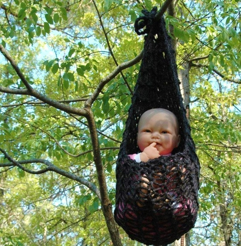 hammock and hanging pod in charcoal unisex