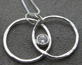 Silver Circle Pendant - Love Forever