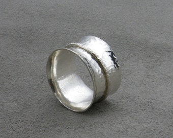 Wide Texture Silver Spinner-289