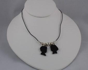 Die Cut Customized Silhouette Pendant Necklace