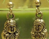 Small Buddha Silver earrings, Great stocking stuffers :)