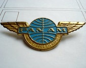 Vintage Pan Am Stewardess Badge