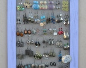 Shabby Chic JEWELRY DISPLAY RACK Holder / Lilac / 40 - 50 Earrings / 28 - 35 Necklaces