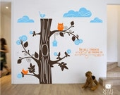 Tree Wall Decals - Marvelous Nature Kit - Vinyl Text Wall Words Stickers Art