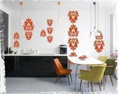 Wall Decals Rococo Wall Pattern - Vinyl Text Stickers Art Graphics