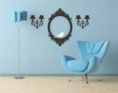 Frame and Sconces Wall Decals Elegant Accents - Vinyl Wall Stickers Art